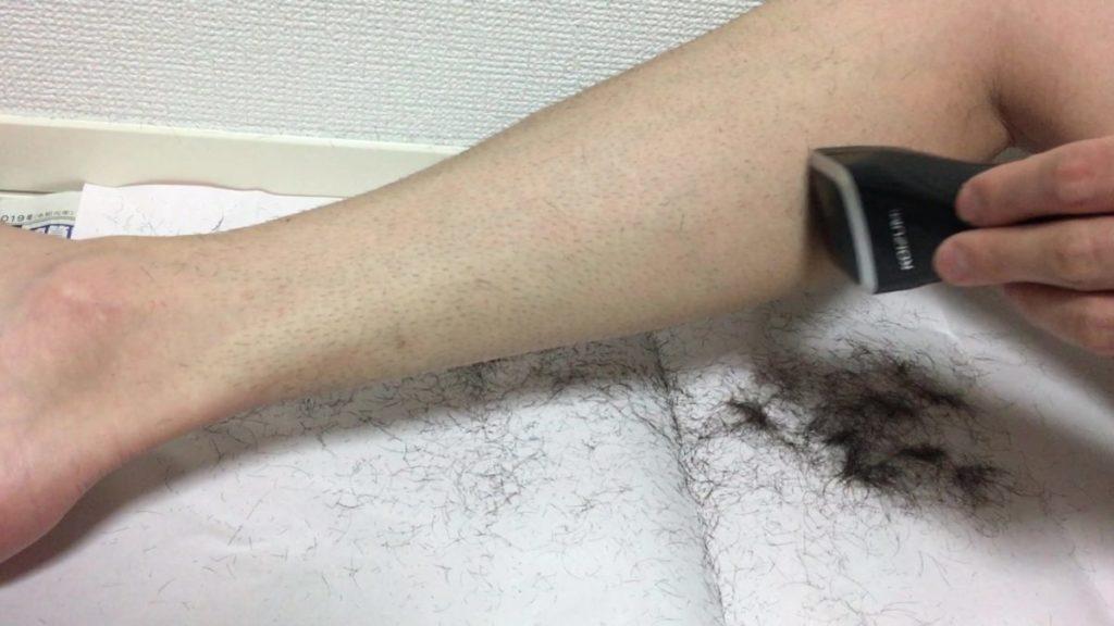レッグヘアトリマですね毛剃り