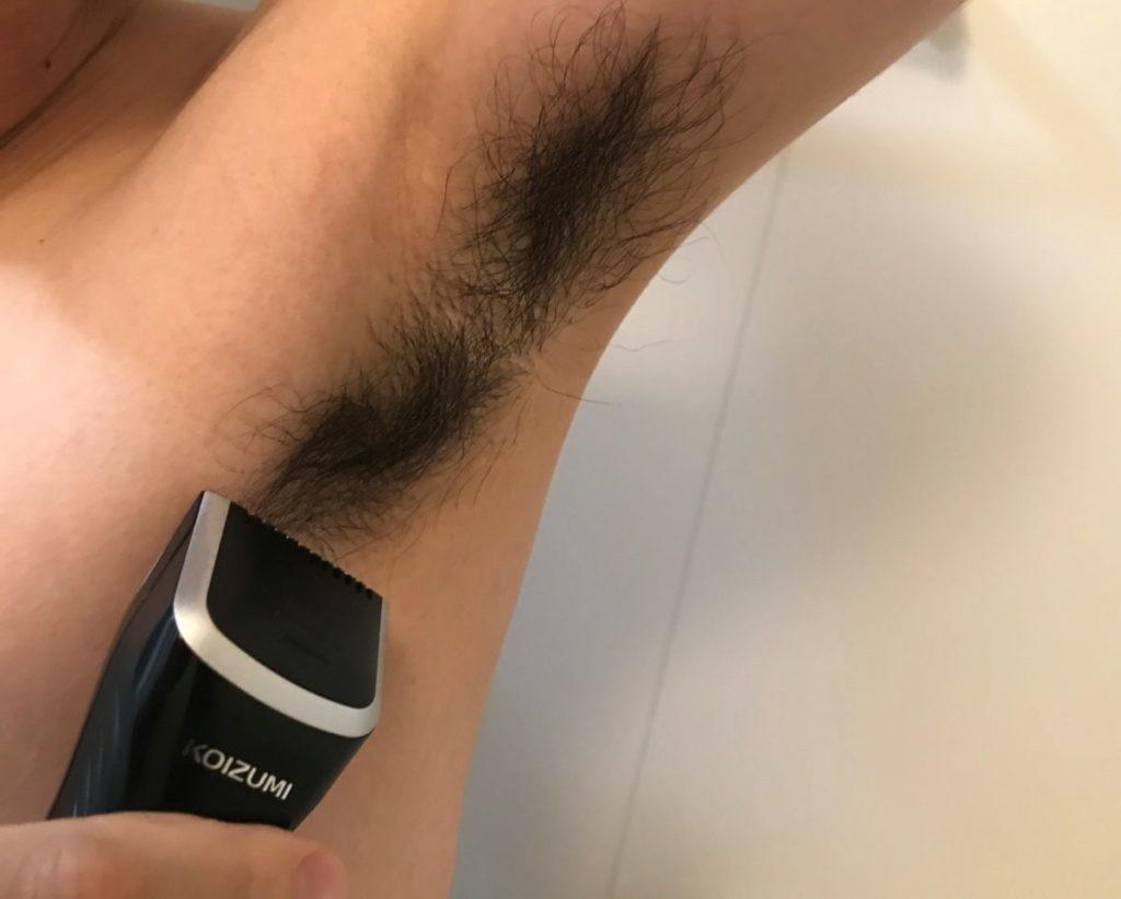 ワキ毛剃り